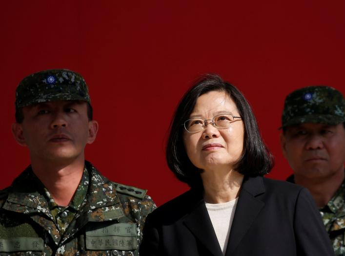 Taiwan's President Tsai Ing-wen visits the 6th Army Command, ahead of Lunar New Year, in Taoyuan, Taiwan January 25, 2019. REUTERS/Tyrone Siu