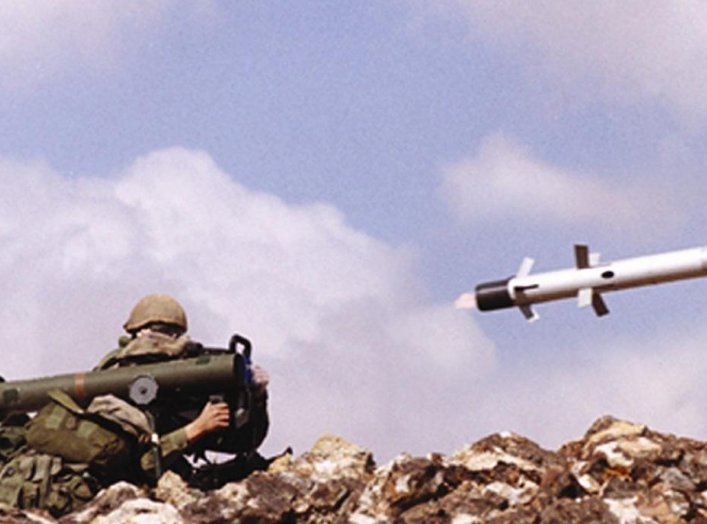 An undated file picture shows an Israeli soldier firing an anti-tank missile Spike-LR, manufactured by an Israeli Defense contractor. Israeli Defense Ministry said December 29, 2003, it signed a deal worth about $250 million to produce and supply anti-tan