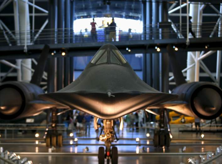 A Lockheed SR-71 Blackbird is seen at the Udvar-Hazy Smithsonian National Air and Space Annex Museum in Chantilly, Virginia August 28, 2015. REUTERS/Gary Cameron