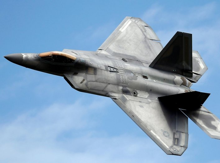 A Lockheed Martin F-22 Raptor fighter turns during a flying display at the Royal International Air Tattoo in Fairford, Britain July 8, 2016. REUTERS/Peter Nicholls