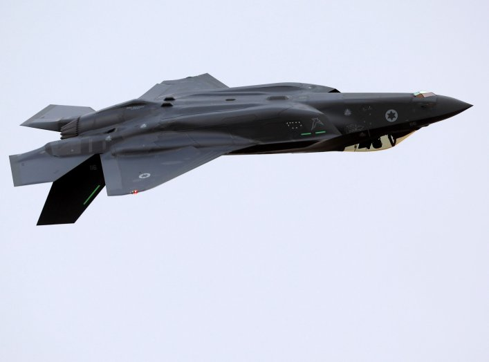 An Israeli Air Force F-35 fighter jet flies during an aerial demonstration at a graduation ceremony for Israeli Air Force pilots at the Hatzerim air base in southern Israel, December 27, 2017. REUTERS/Amir Cohen