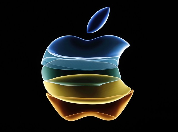 The Apple logo is displayed at an event at their headquarters in Cupertino, California, U.S. September 10, 2019. REUTERS/Stephen Lam