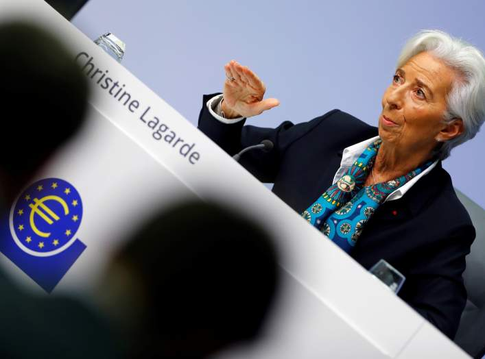 New European Central Bank (ECB) President Christine Lagarde gestures as she addresses a news conference on the outcome of the meeting of the Governing Council, in Frankfurt, Germany, December 12, 2019. REUTERS/Ralph Orlowski