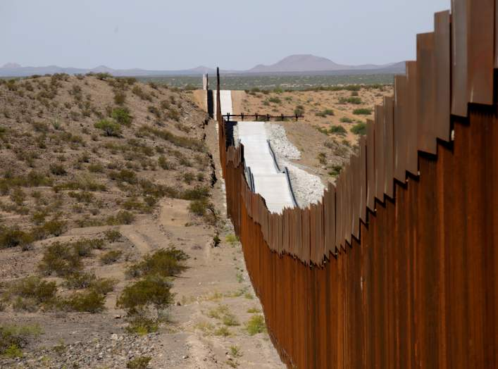 FILE PHOTO: New bollard-style U.S.-Mexico border fencing is seen in Santa Teresa, New Mexico, U.S., as pictured from Ascension, Mexico August 28, 2019. REUTERS/Jose Luis Gonzalez/File Photo