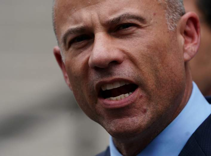 FILE PHOTO: Lawyer Michael Avenatti speaks as he departs federal court in the Manhattan borough of New York, New York, U.S., May 28, 2019. REUTERS/Carlo Allegri/File Photo