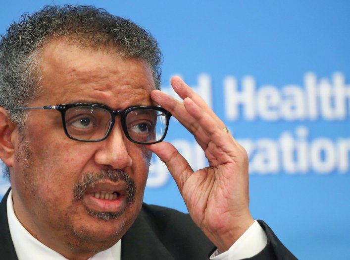 Director-General of the WHO Tedros Adhanom Ghebreyesus, attends a news conference on the novel coronavirus (2019-nCoV) in Geneva, Switzerland February 11, 2020. REUTERS/Denis Balibouse
