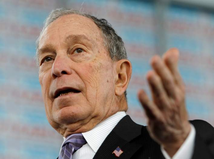 FILE PHOTO: Democratic presidential candidate Michael Bloomberg speaks at a campaign event in Raleigh, North Carolina, U.S. February 13, 2020. REUTERS/Jonathan Drake/File Photo