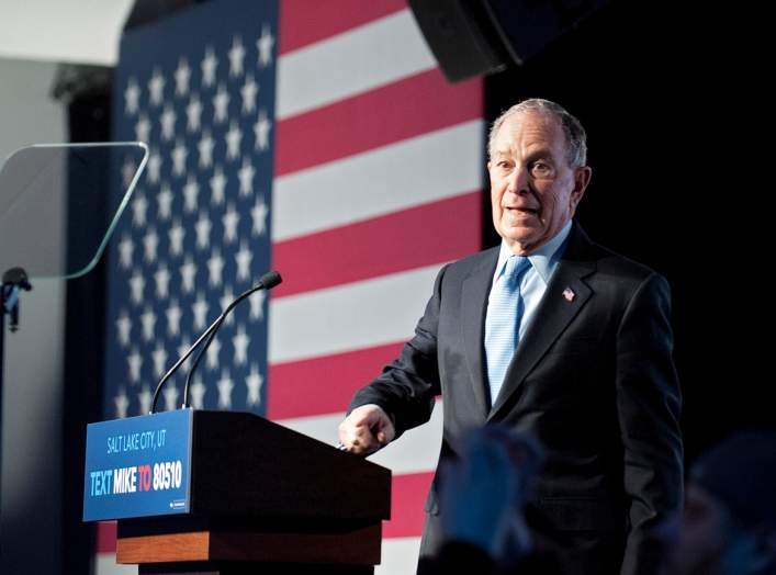 Democratic presidential candidate Mike Bloomberg holds a campaign rally in Salt Lake City, Utah, U.S., February 20, 2020. REUTERS/Ed Kosmicki