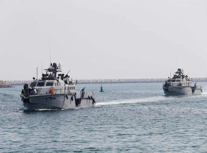 U.S. Navy patrol boats arrive at Saudi Royal Navy, Eastern Fleet Headquarters, during mixed maritime exercise in Jubail, Saudi Arabia, February 23, 2020. REUTERS/Hamad I Mohammed