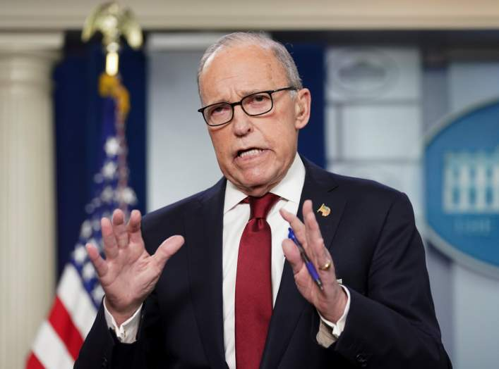 White House economic adviser Larry Kudlow speaks about coronavirus at the White House in Washington, U.S., February 28, 2020. REUTERS/Kevin Lamarque