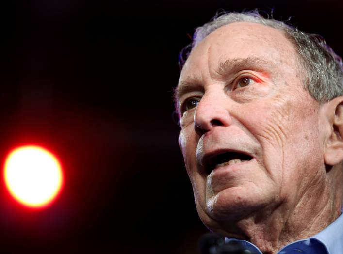 Then-Democratic U.S. presidential candidate Michael Bloomberg speaks at his Super Tuesday night rally in West Palm Beach, Florida, U.S., March 3, 2020. REUTERS/Marco Bello
