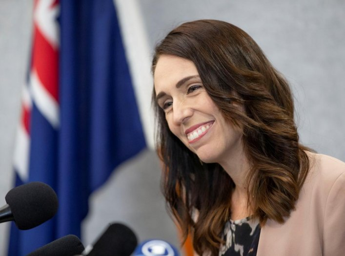 New Zealand Prime Minister Jacinda Ardern smiles during a news conference prior to the anniversary of the mosque attacks that took place the prior year in Christchurch, New Zealand, March 13, 2020. REUTERS/Martin Hunter