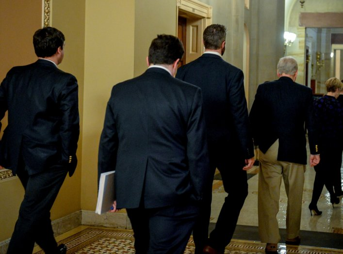 U.S. Senate Majority Leader Mitch McConnell (R-KY) walks back to his office after the motion failed in the attempt to wrap up work on coronavirus economic aid legislation in Washington, U.S., March 22, 2020. REUTERS/Mary F. Calvert