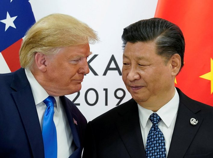 U.S. President Donald Trump meets with China's President Xi Jinping at the start of their bilateral meeting at the G20 leaders summit in Osaka, Japan, June 29, 2019. REUTERS/Kevin Lamarque