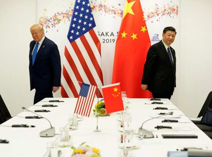 U.S. President Donald Trump attends a bilateral meeting with China's President Xi Jinping during the G20 leaders summit in Osaka, Japan, June 29, 2019. REUTERS/Kevin Lamarque