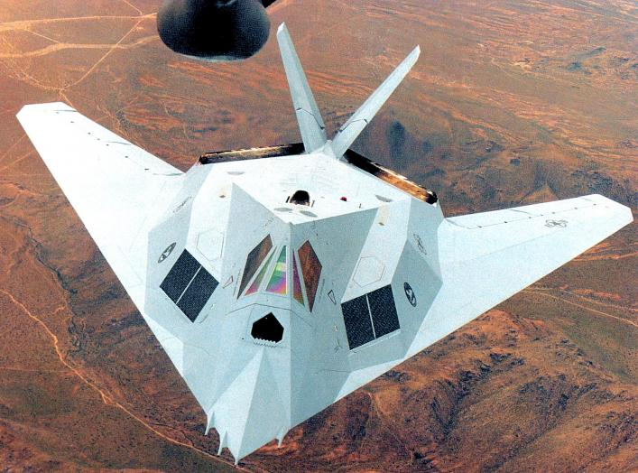 Lockheed F-117A Nighthawk 79-7082 in experimental grey motif. Later, this motif was used by the Air Force on the F-22 Raptor