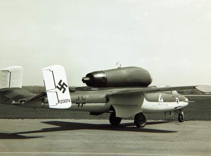 Heinkel, He 162, Spatz Volksjager. San Diego Air and Space Museum Archive.