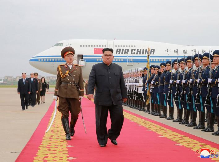 North Korean leader Kim Jong Un is seen returning to North Korea after the summit with U.S. President Donald Trump, in this picture released on June 13, 2018 by North Korea's Korean Central News Agency. KCNA via REUTERS ATTENTION EDITORS - THIS PICTURE WA