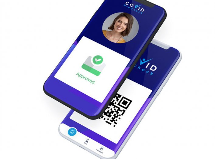 Image: COVID PreCheck Digital Health Pass App