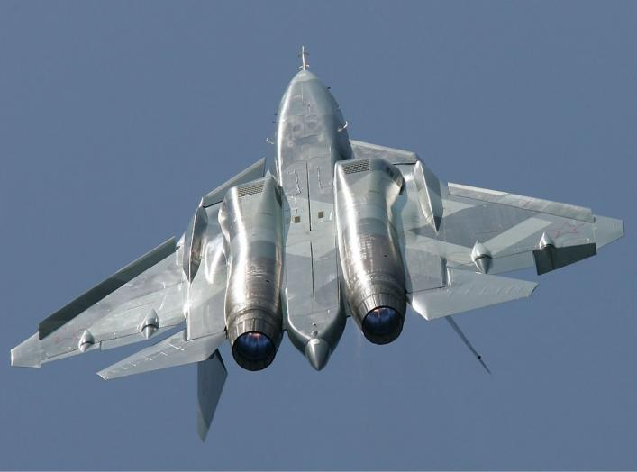 https://commons.wikimedia.org/wiki/File:Sukhoi_T-50_Pichugin.jpg#/media/File:Sukhoi_T-50_Pichugin.jpg