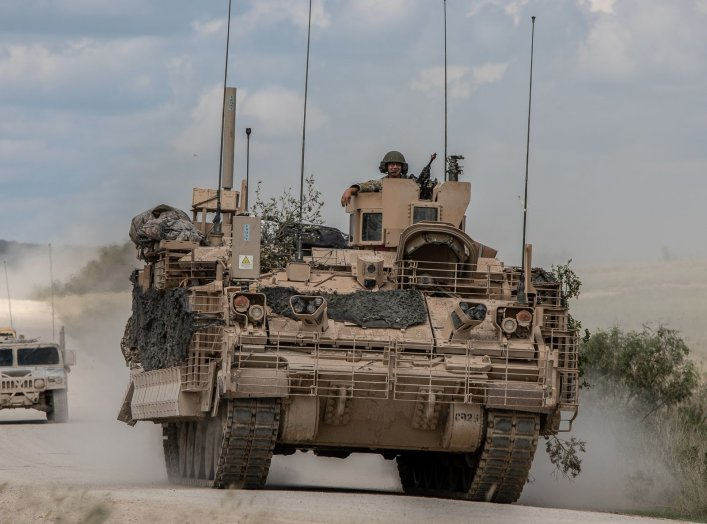 By Photo Credit: Maj. Carson Petry (1st CAV) - Black Jack, USAOTC complete testing of new Armored Multi-Purpose Vehicle at army.mil, Public Domain, https://commons.wikimedia.org/w/index.php?curid=73109251