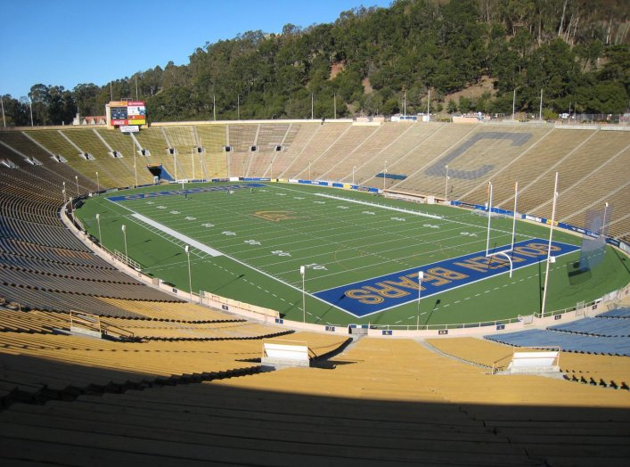 California Memorial Stadium in Berkeley, California. 17 January 2008. Wikimedia/Roman Fuchs.