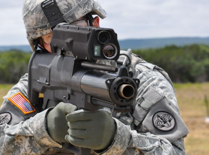 By The U.S. Army - Testing the new XM-25 weapon system, Public Domain, https://commons.wikimedia.org/w/index.php?curid=9453175