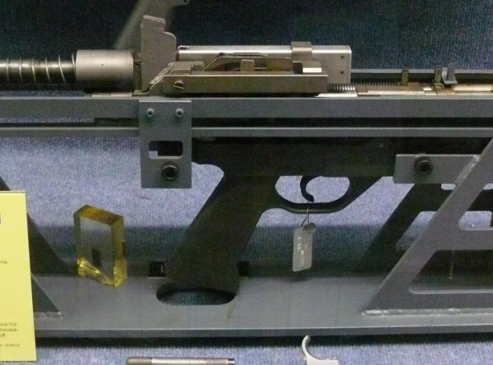 The first Prototype of the G11 Assault Rifle by Heckler & Koch. 26 August 2009. Bojoe.