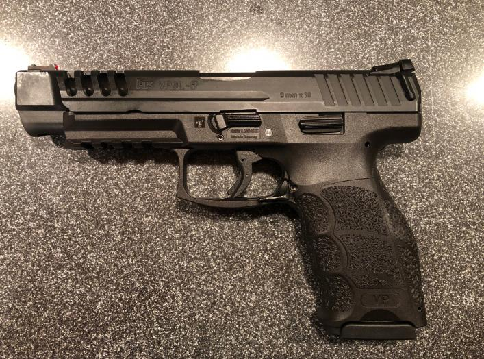 """Long slide"" version of the Heckler & Koch VP9, a polymer-framed semi-automatic striker-fired handgun. 3 September 2019"
