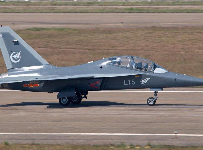Hongdu L-15 at Zhuhai - Sanzo. Wikimedia/Xu Zheng. Creative CommonsAttribution-Share Alike 4.0 Internationallicense.