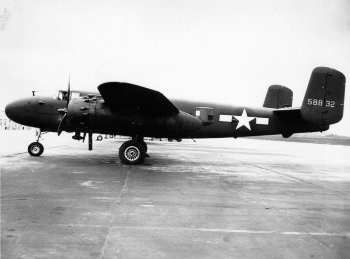 By USAAF - http://www.edwards.af.mil/gallery/images/yeager-planes/b25-1_300.jpg, Public Domain, https://commons.wikimedia.org/w/index.php?curid=33570116