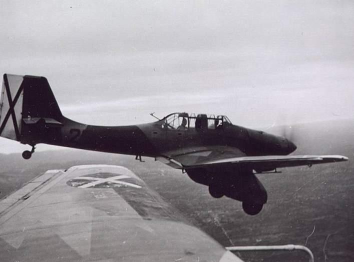 Condor Legion's Junkers Ju 87A with Spanish Civil War rebel markings. Between 1936 and 1939. Biblioteca Virtual de Defensa.