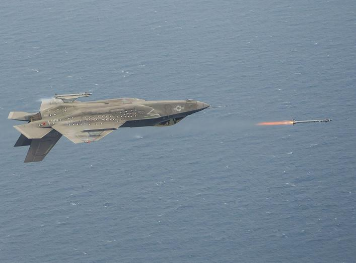 Oh My: This Photo Shows an F-35c Firing a Sidewinder Missile Flying Upside Down