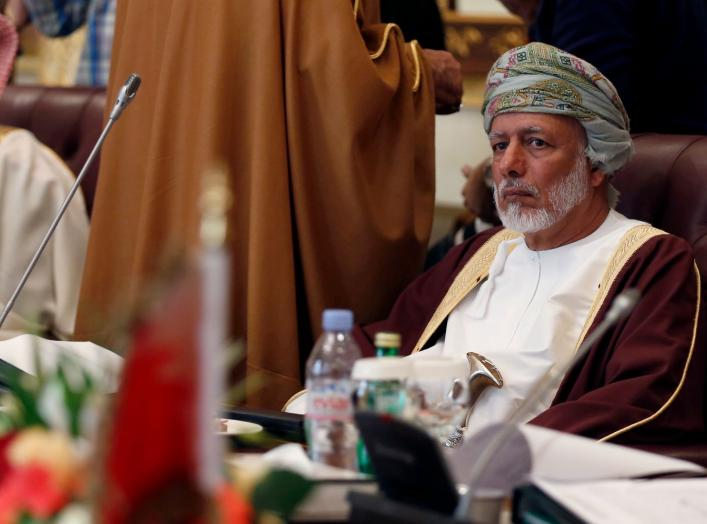 Oman's Minister of Foreign Affairs Yusuf bin Alawi bin Abdullah attends the Gulf Cooperation Council (GCC) meeting in Riyadh January 21, 2015. REUTERS/Faisal Al Nasser (SAUDI ARABIA - Tags: POLITICS)