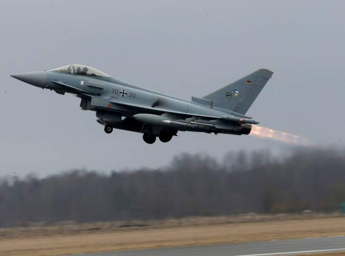 German Air Force Eurofighter Typhoon takes-off during the air policing scramble in Amari air base, Estonia, March 2, 2017. REUTERS/Ints Kalnins