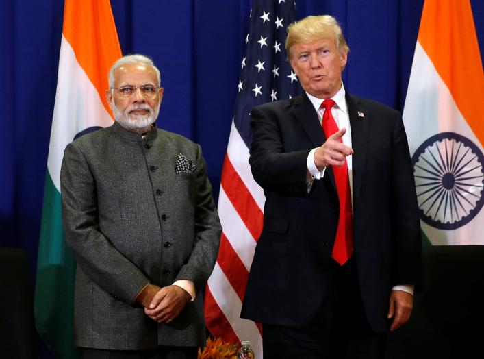 U.S. President Donald Trump holds a bilateral meeting with India's Prime Minister Narendra Modi alongside the ASEAN Summit in Manila, Philippines November 13, 2017. REUTERS/Jonathan Ernst