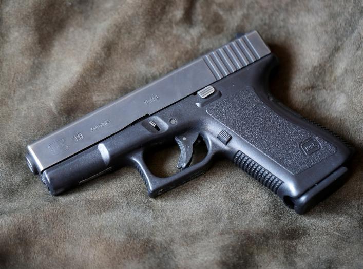 A Glock 19, 9 mm Para pistol is seen in Vienna, Austria, March 22, 2018. REUTERS/Heinz-Peter Bader