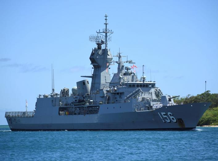 Royal Australian Navy frigate HMAS Toowoomba arrives in preparation for Rim of the Pacific (RIMPAC) military exercises at Joint Base Pearl Harbor-Hickam, Hawaii, U.S. June 25, 2018. Picture taken June 25, 2018. U.S. Navy/Mass Communication Specialist 1st