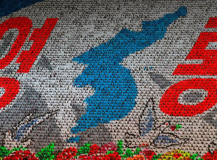 Participants form a map of Korean peninsula at Mass Games in May Day stadium marking the 70th anniversary of North Korea's foundation in Pyongyang, North Korea, September 9, 2018. Picture taken September 9, 2018. REUTERS/Danish Siddiqui
