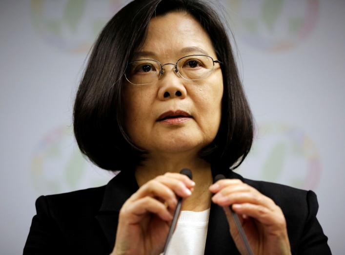 Taiwan President Tsai Ing-wen announces her resignation as chairwoman of the Democratic Progressive Party (DPP) after local elections in Taipei, Taiwan November 24, 2018. REUTERS/Ann Wang