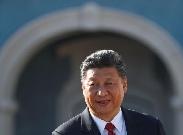 China's President Xi Jinping arrives for a meeting with Portugal's Prime Minister Antonio Costa at Queluz Palace in Queluz, Portugal, December 5, 2018. REUTERS/Rafael Marchante