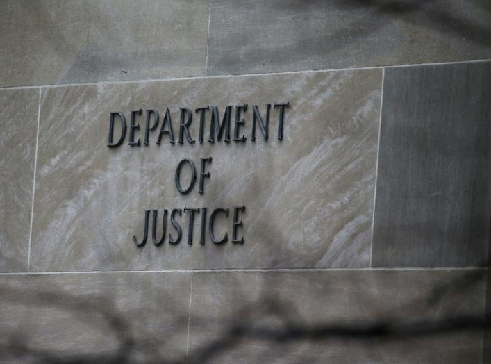 The U.S. Department of Justice building is pictured in Washington, U.S., March 21, 2019. REUTERS/Leah Millis
