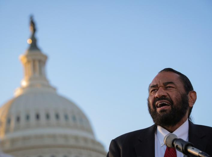 Rep. Al Green (D-TX) speaks during a news conference on Capitol Hill in Washington, U.S., March 27, 2019. REUTERS/Brendan McDermid