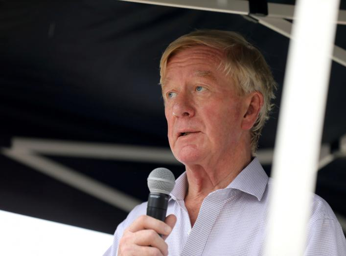 2020 Republican U.S. presidential candidate and former Massachusetts Governor Bill Weld speaks at the Iowa State Fair in Des Moines, Iowa, U.S., August 11, 2019. REUTERS/Scott Morgan
