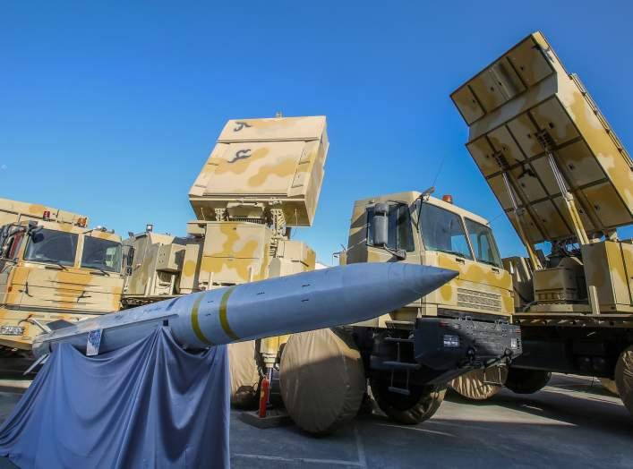 The domestically built mobile missile defence system Bavar-373 is displayed on the National Defence Industry Day in Tehran, Iran August 22, 2019. Tasnim News Agency/Handout via REUTERS