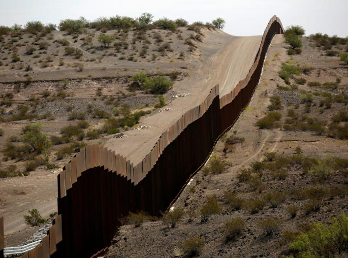 New bollard-style U.S.-Mexico border fencing is seen in Santa Teresa, New Mexico, U.S., as pictured from Ascension, Mexico August 28, 2019. REUTERS/Jose Luis Gonzalez