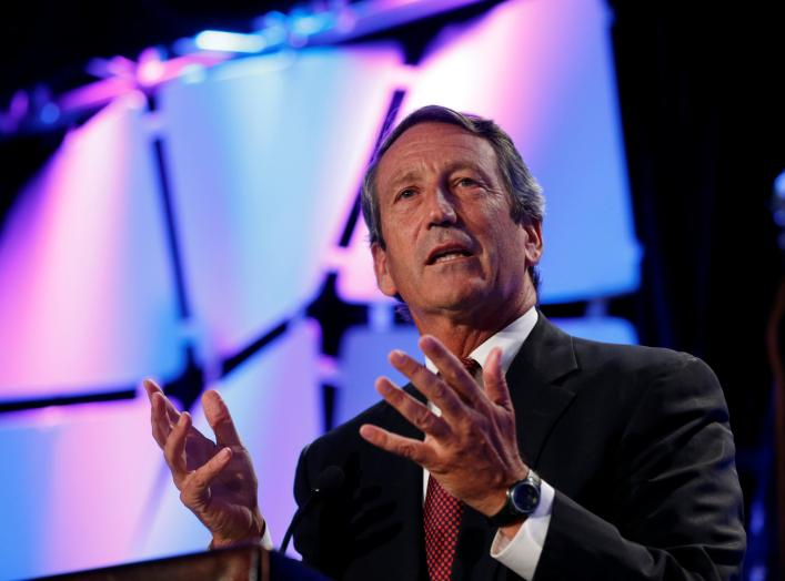 FILE PHOTO: U.S. Representative Mark Sanford (R-SC) speaks at the Liberty Political Action Conference (LPAC) in Chantilly, Virginia September 19, 2013. REUTERS/Kevin Lamarque/File Photo