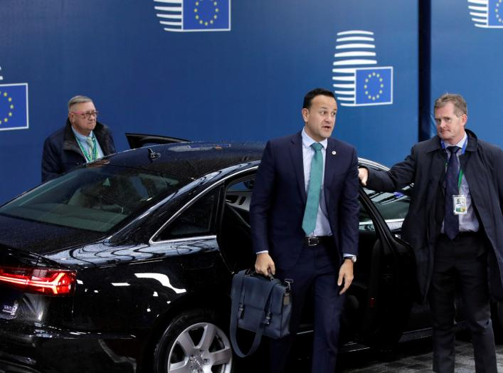 Ireland's Prime Minister (Taoiseach) Leo Varadkar arrives for the second day of the European Union leaders summit dominated by Brexit, in Brussels, Belgium October 18, 2019. Olivier Matthys/Pool via REUTERS