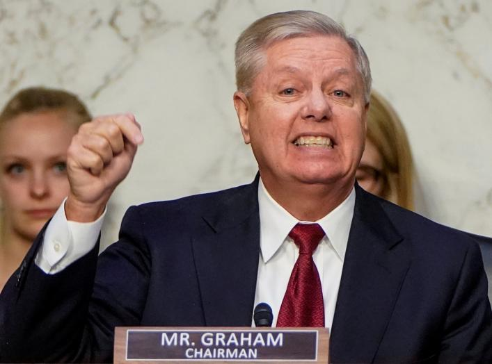 U.S. Senate Judiciary Committee Chairman Senator Lindsey Graham (R-SC) speaks prior to hearing testimony from Justice Department Inspector General Michael Horowitz before a Senate Judiciary Committee hearing