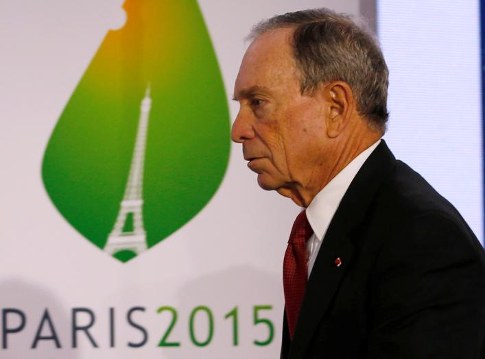 FILE PHOTO: Former New York City Mayor Michael Bloomberg attends a meeting during the World Climate Change Conference 2015 (COP21) at Le Bourget, near Paris, France, December 4, 2015. REUTERS/Stephane Mahe/File Photo